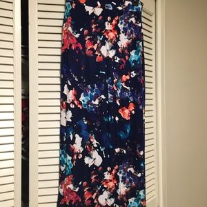 a.n.a floral maxi skirt, size s